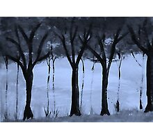 Series,#2,  of trees in forest, watercolor Photographic Print