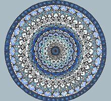 Blue Moody Mandala by Tara Robertson