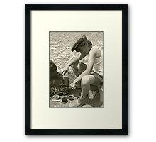 Shoeshine Boy Framed Print