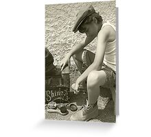 Shoeshine Boy Greeting Card