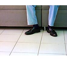 Shiny Kicks Photographic Print