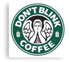 Weeping Angel of Original Starbucks Logo Canvas Print