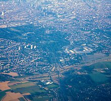 Brussels areal view, Belgium by Atanas Bozhikov NASKO
