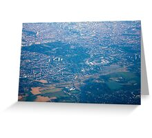 Brussels areal view, Belgium Greeting Card