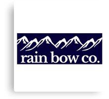 Rain Bow Co. - Navy Canvas Print
