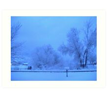 WINTER SNOWSTORM  Art Print