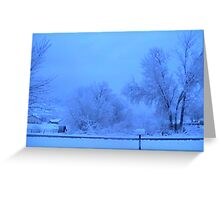 WINTER SNOWSTORM  Greeting Card
