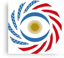 Argentinian American Multinational Patriot Flag Series Canvas Print