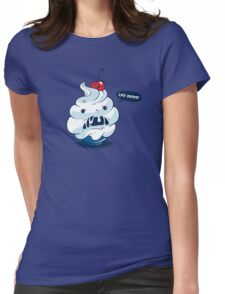 The angry ice cream Womens Fitted T-Shirt