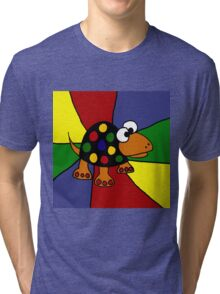 Cool Colorful Spotted Turtle Art Abstract Tri-blend T-Shirt