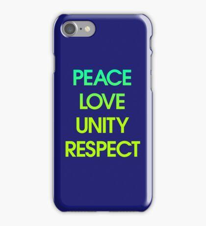 Peace Love Unity Respect (PLUR) iPhone Case/Skin