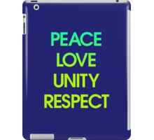 Peace Love Unity Respect (PLUR) iPad Case/Skin