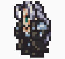 Sephiroth sprite - FFRK - Final Fantasy VII (FF7) One Piece - Long Sleeve