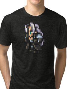 Sephiroth sprite - FFRK - Final Fantasy VII (FF7) Tri-blend T-Shirt