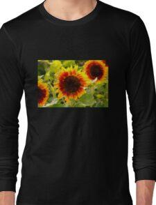 Painted Sunflower Long Sleeve T-Shirt