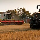 Harvester and Tractor by Nigel Jones