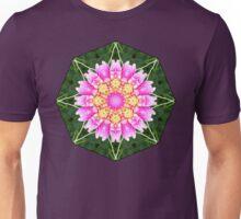 PINK DAHLIA MANDALA Unisex T-Shirt