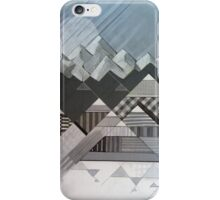 Geometry's Valley - inspired by mountain landscapes, geometry. acrylic and ink on wood iPhone Case/Skin