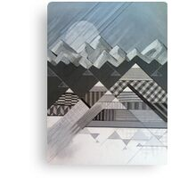 Geometry's Valley - inspired by mountain landscapes, geometry. acrylic and ink on wood Canvas Print