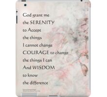 Serenity Prayer Almond Blossoms Pink iPad Case/Skin
