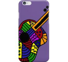 Awesome Colorful Folk Art Guitar Original iPhone Case/Skin