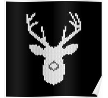 White Tail Buck in Knit Style Poster