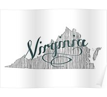 Virginia State Typography Poster