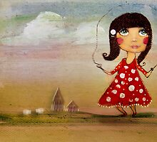 skipping girl by Karin  Taylor