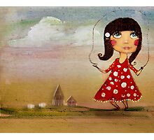 skipping girl Photographic Print
