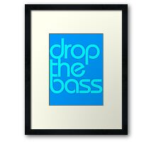 Drop The Bass (cyan) Framed Print