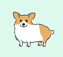 Cute Corgi Puppy Dog by Zoe Lathey