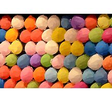 Painted Carnival Dart Game Balloons Photographic Print