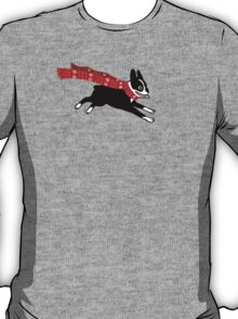 Holiday Boston Terrier Wearing Winter Scarf T-Shirt