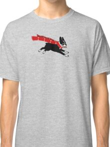Holiday Boston Terrier Wearing Winter Scarf Classic T-Shirt
