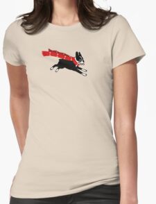 Holiday Boston Terrier Wearing Winter Scarf Womens Fitted T-Shirt