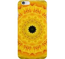 YELLOW ROSE WITH INSET MANDALA iPhone Case/Skin