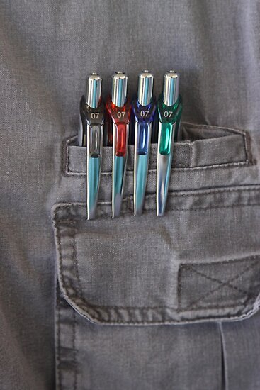 Pocketed Pens by Robert Armendariz