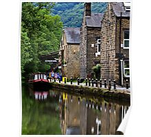 Rochdale Canal Reflections. Poster