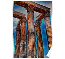 Greece. Athens. The Ruins of Temple of Zeus. Poster