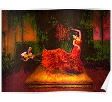 Flamenco Flame Poster