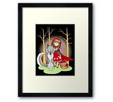 Red Riding Hood and Wolfie Framed Print