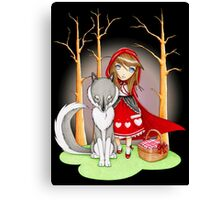 Red Riding Hood and Wolfie Canvas Print