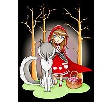Red Riding Hood and Wolfie Photographic Print