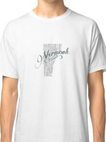 Vermont State Typography Classic T-Shirt