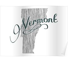 Vermont State Typography Poster
