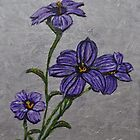 Purple Flowers by Tricia Winwood