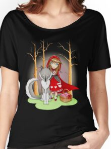 Red Riding Hood and Wolfie Women's Relaxed Fit T-Shirt
