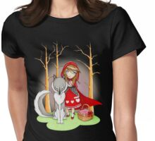 Red Riding Hood and Wolfie Womens Fitted T-Shirt