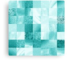 Baby Blue Marble Quilt  Canvas Print