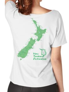 New Zealand's Map Women's Relaxed Fit T-Shirt